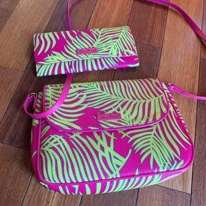 Vera Bradley Flap Crossbody Bag and wallet